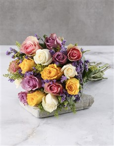 flowers: Rainbow Mixed Rose Bouquet!