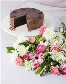 gifts: Pink Petals Cake Combo!