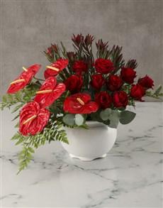 flowers: Scarlet Splendour Anthurium Arrangement!