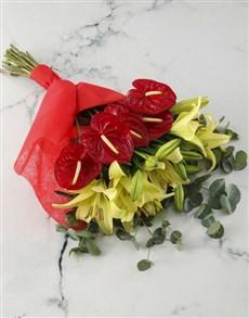 flowers: Amazing Anthurium Bouquet!