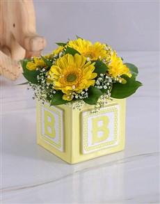 flowers: New Baby Building Block Arrangement!