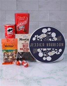 gifts: Personalised Blue Floral Gourmet Tin!