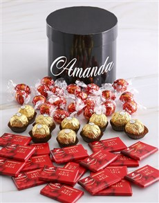 gifts: Personalised Assorted Mixed Chocs Hat Box!