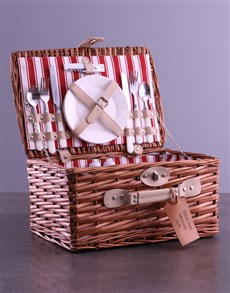 gifts: Personalised Own Message Red Picnic Basket!