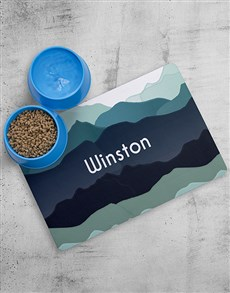 gifts: Personalised Mountain Placemat and Bowls!