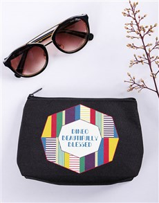 gifts: Personalised Beautifully Blessed Cosmetic Bag!