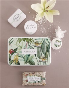 gifts: Personalised Paradise Bath and Body Tin!