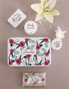 gifts: Personalised Floral Bath and Body Tin!