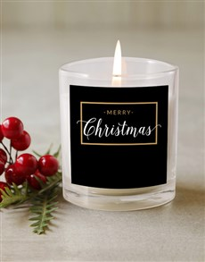 gifts: Personalised Gold Framed Candle!