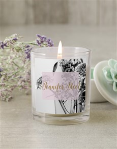 gifts: Personalised Vintage Flower Candle!