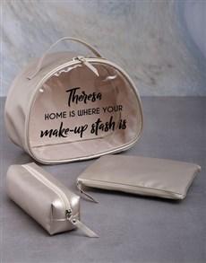 gifts: Personalised Makeup Home Vanity Set Hamper!