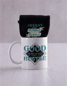 gifts: Personalised Hustle Socks And Mug!