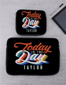 gifts: Personalised Today Tech Device Sleeve!