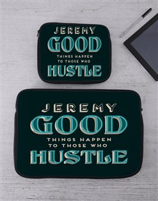 gifts: Personalised Hustle Tech Device Sleeve!