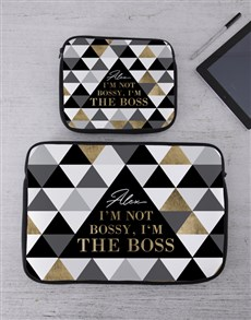 gifts: Personalised Boss Tech Device Sleeve!