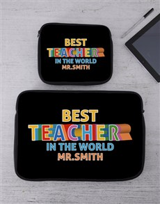 gifts: Personalised Teacher Tech Device Sleeve!