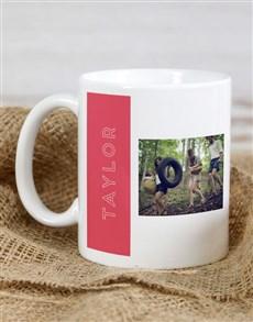 gifts: Personalised Red Monogram Photo Mug !