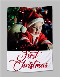 gifts: Personalised First Christmas Photo Blanket!