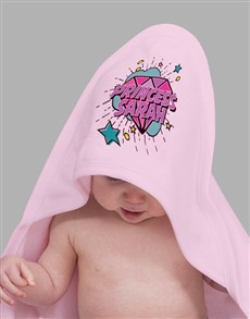 gifts: Personalised Princess Gem Hooded Towel!
