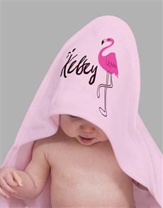 gifts: Personalised Flamingo Baby Gift Hamper!