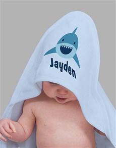 gifts: Personalised Shark Hooded Towel!