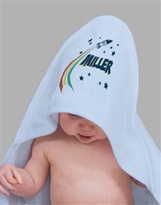 gifts: Personalised Spaceship Hooded Towel!