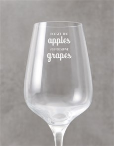 gifts: Personalised Deserve Grapes Wine Glass !