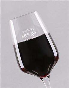 gifts: Personalised Boss Ladies Wine Glass!