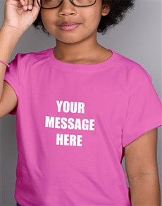 gifts: Personalised Kids Pink T Shirt!