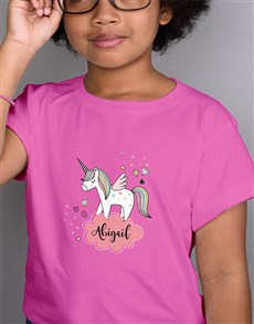gifts: Personalised Unicorn Dreams Kids T Shirt!