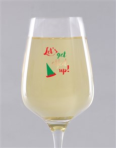 gifts: Personalised Elfed Up Wine Glass !