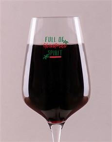 gifts: Personalised Christmas Spirit Wine Glass!