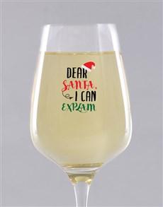gifts: Personalised Dear Santa Wine Glass!