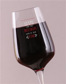 gifts: Personalised Above The Line Wine Glass!