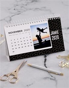 gifts: Personalised Geometric Desk Calendar!