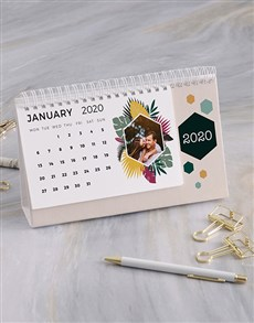 gifts: Personalised Tropical Photo Desk Calendar!