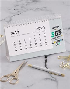 gifts: Personalised 365 Awesome Days Desk Calendar!