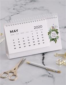 gifts: Personalised Botanical Desk Calendar!