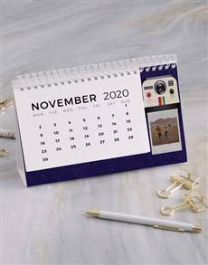 gifts: Personalised Polaroid Desk Calendar!