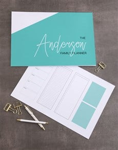 gifts: Personalised Modern Family Desk Pad!