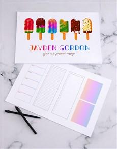 gifts: Personalised Fun Ice Cream Desk Pad!