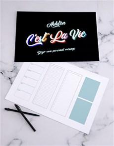 gifts: Personalised Cest La Vie Desk Pad!