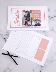 gifts: Personalised Multi Photo Desk Pad!