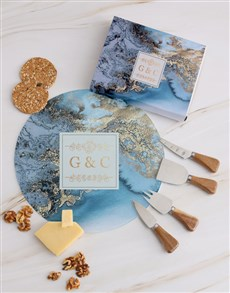 gifts: Personalised Couples Geode Cheese Knives !