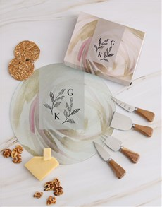 gifts: Personalised Leaves Cheese Knives!