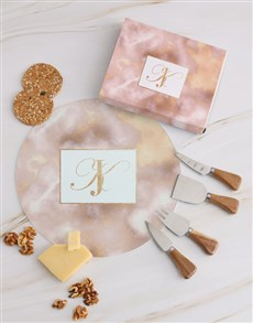 gifts: Personalised Shades of Pink Cheese Knives!