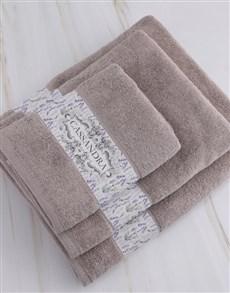 gifts: Personalised Vintage Stone Towel Set!