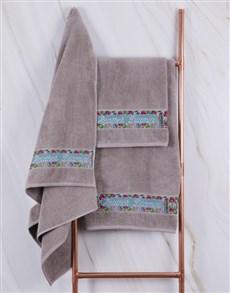 gifts: Personalised Botanical Stone Towel Set !