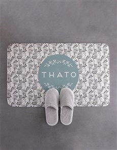 gifts: Personalised Wreath Bath Mat!