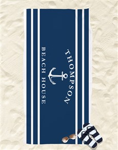 gifts: Personalised Beach House Towel!